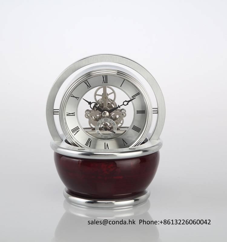 Conda Quartz wooden desk clock K8037