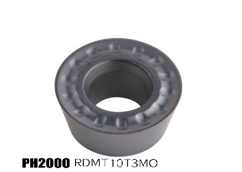 PH2000-RDMT10T3MO milling insert for hard steel processing