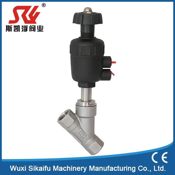 304Stainless Steel Thread Pneumatic Angle Valve Water Flow With CE Certificte