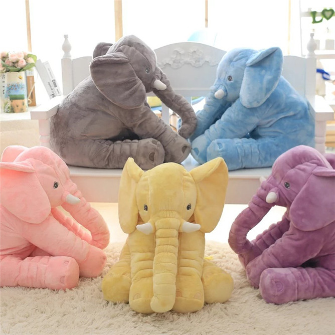 Cartoon 65cm Large Plush Elephant Toy Kids stuffed Pillow