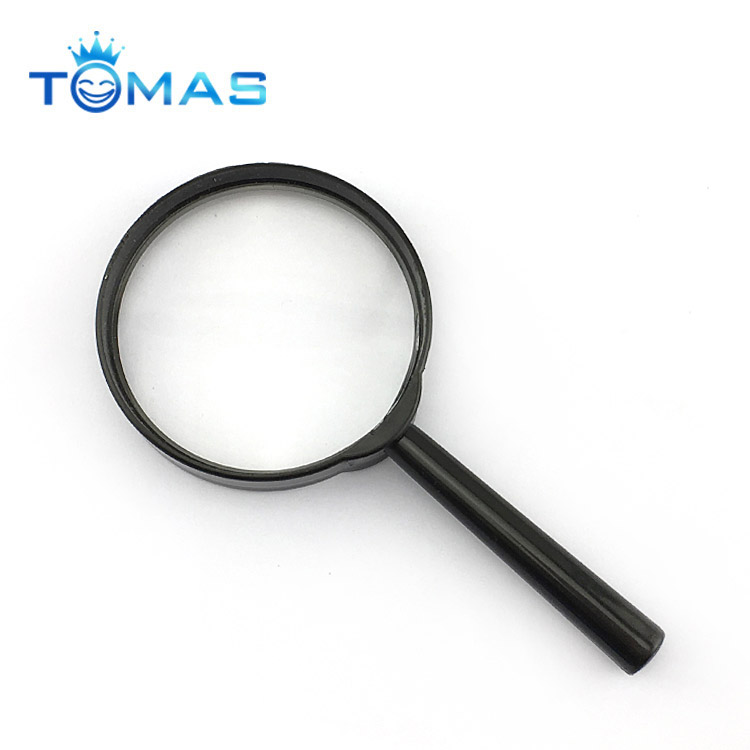 Handheld colorful magnifying glass, reading magnifier large