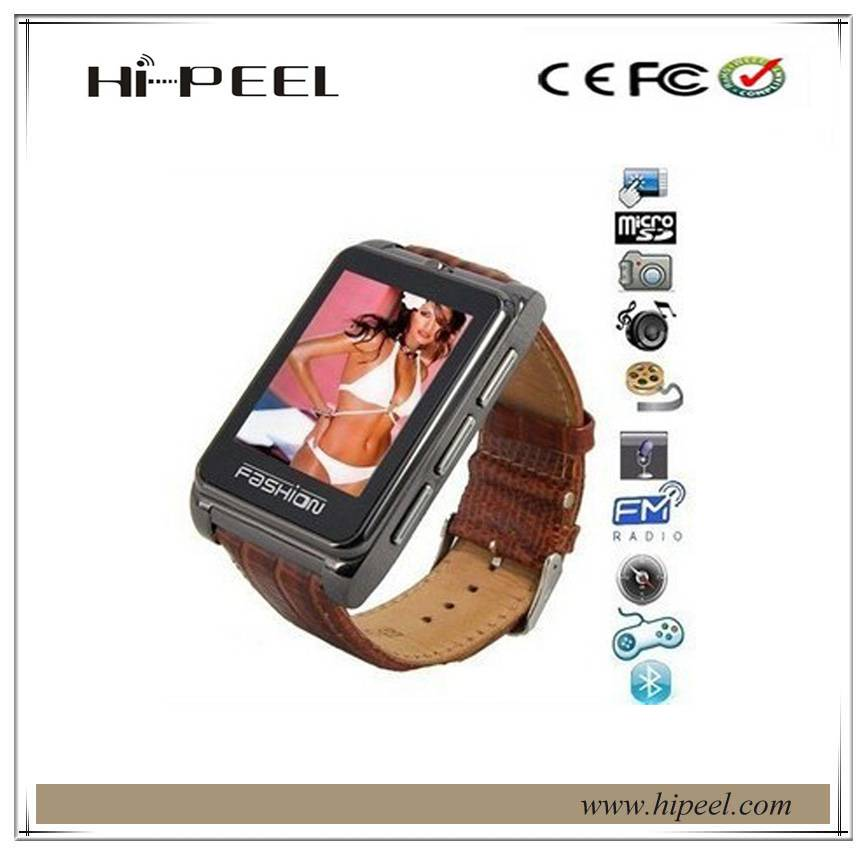 1.8inch touch screen GSM smart watch mobile phone