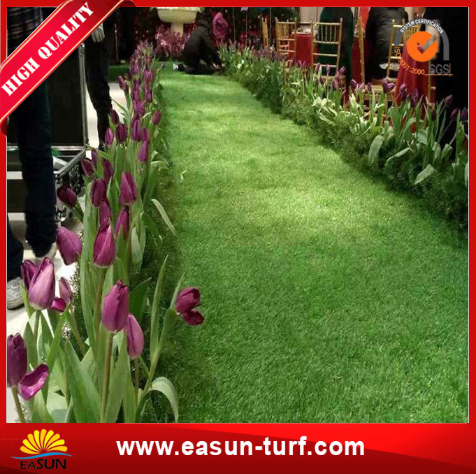 Garden Use Interlocking green Artificial Grass Tile -AL