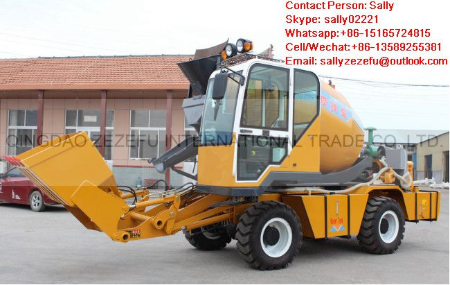 1.2M3 R self loading concrete mixer truck