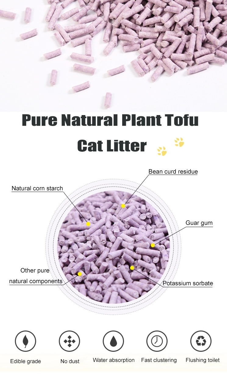 Best quality Plant cat litter clumping and flushable