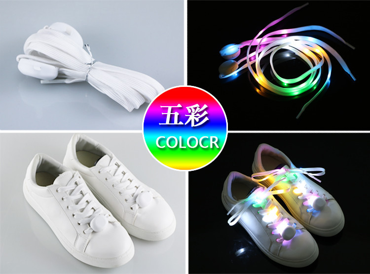 Fashionable design colorful nylon luminous shoelace light up led shoelace