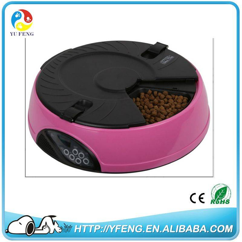 2016 Hottest 6 Meal LCD Automatic Pet Feeder For Smart  Dog and Cat