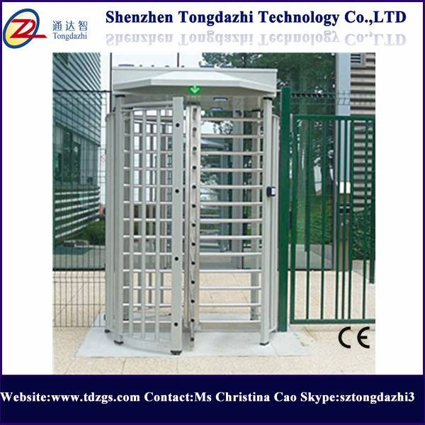 Security gate full height turnstile for outdoor used