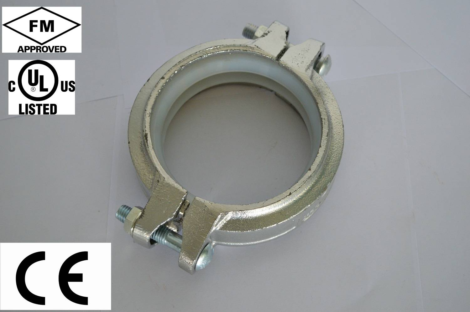 FM UL cUL approved ductile iron grooved coupling and grooved pipe fitting