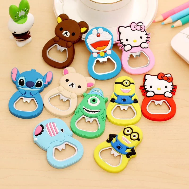 OEM cartoon soft PVC bottle opener for promotion gifts