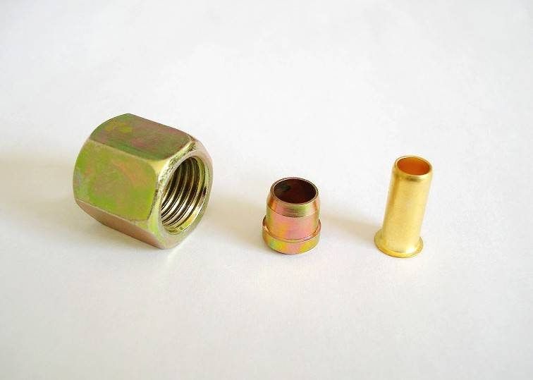 3 pieces fittings for nylon tube