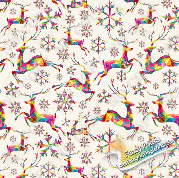 colorful deer fabric for satin fabric