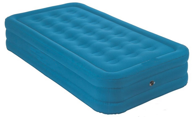 Double height air beds twin size flocked air beds