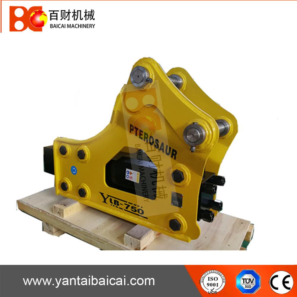 Side type hydraulic rock breaker hammer for 6-9ton excavator