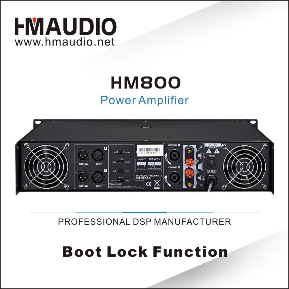 HM800 Made in China Professional Digital Power Amplifier