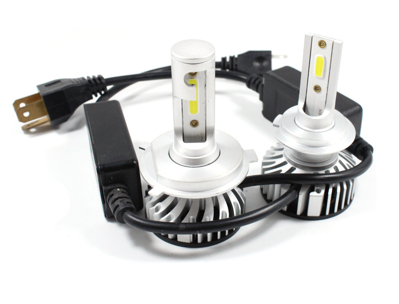 IP68 High Power Super Bright Head 60W 12000 LM Headlig Bulbs COB Fan H11 9005