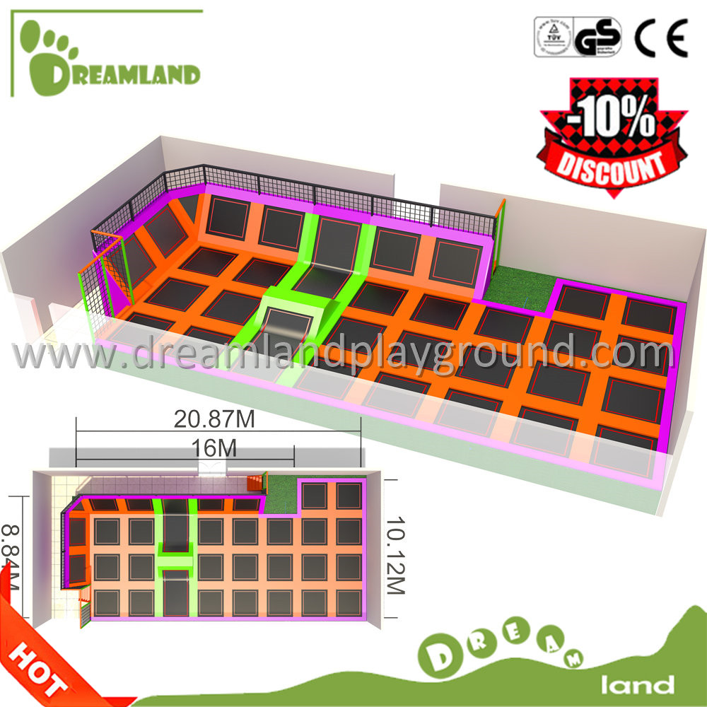 Wholesale Indoor&outdoor trampoline with foam blocks,Fun Jump Bungee trampoline