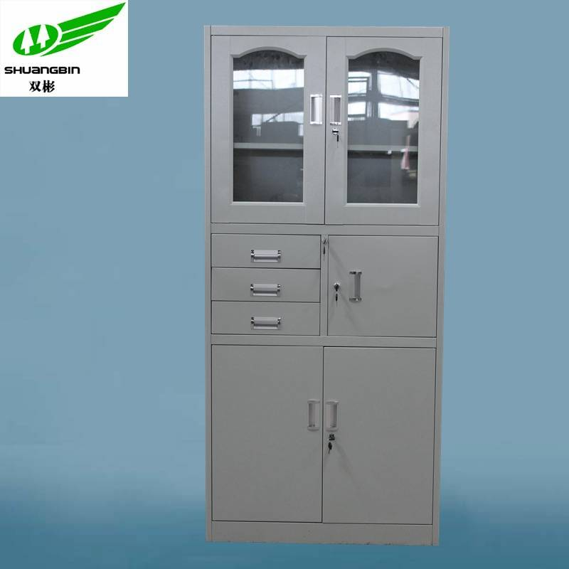 3 drawers big office steel profile storage cabinet