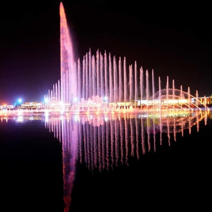 Saudi Arabic Outdoor 3D Modern Water Dance Light Musical Fountain offered by AUSTRALIA RAINBOW
