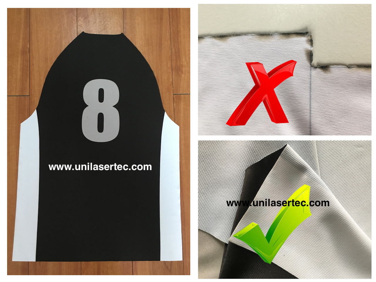 Qualified Sportswear Laser Cutting Machine