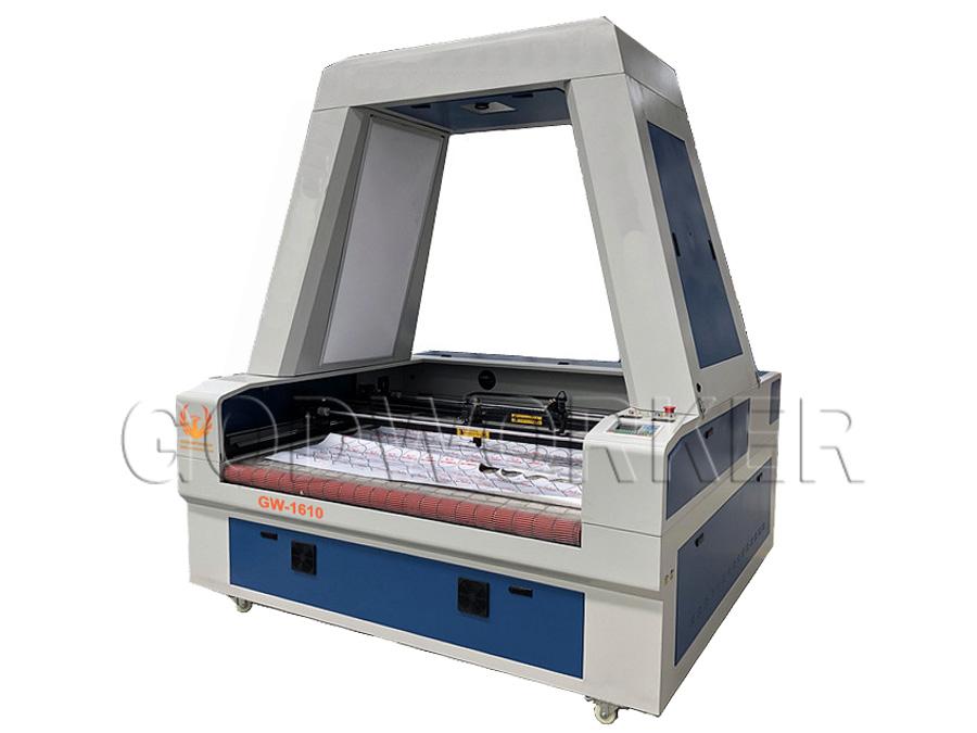 GW-1610 auto feeding laser cutting machine with 2 gantry 2 heads asynchronous