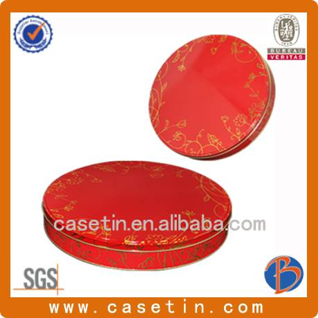 custom metal large round pizza packaging tin box with food grade
