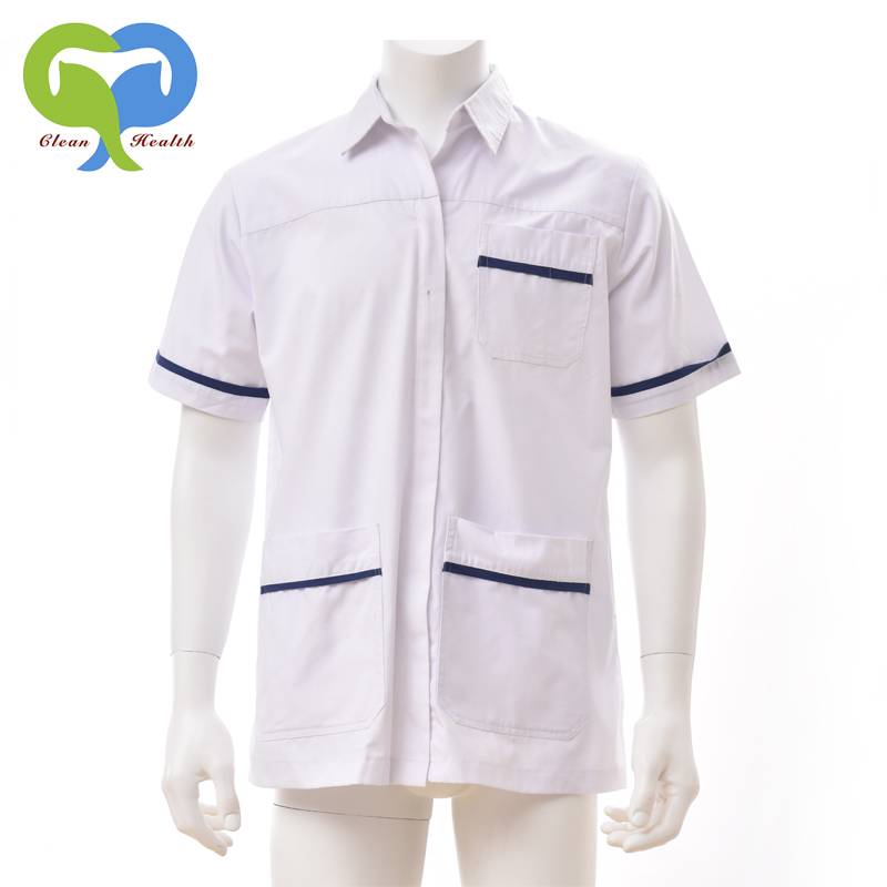 Polycotton white medical clothing, medical tunics, medical uniforms