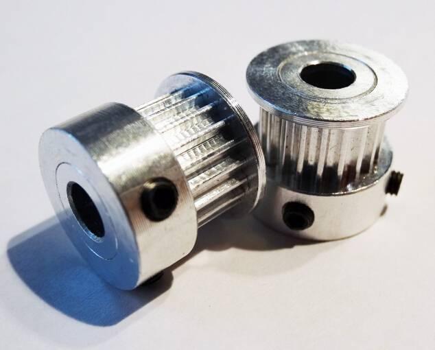 GT2 20 Teeth 5mm Bore Aluminum Timing Belt Pulley For 3D Printer CNC RepRap