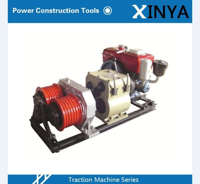 5 Ton Double Drum Gasoline Engine Driven Winch
