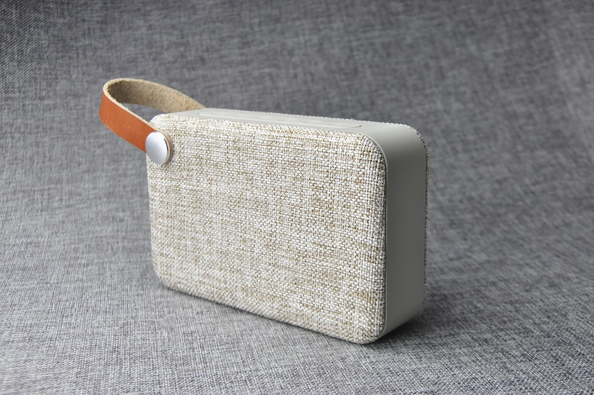 portable bluetooth speaker with leather strap