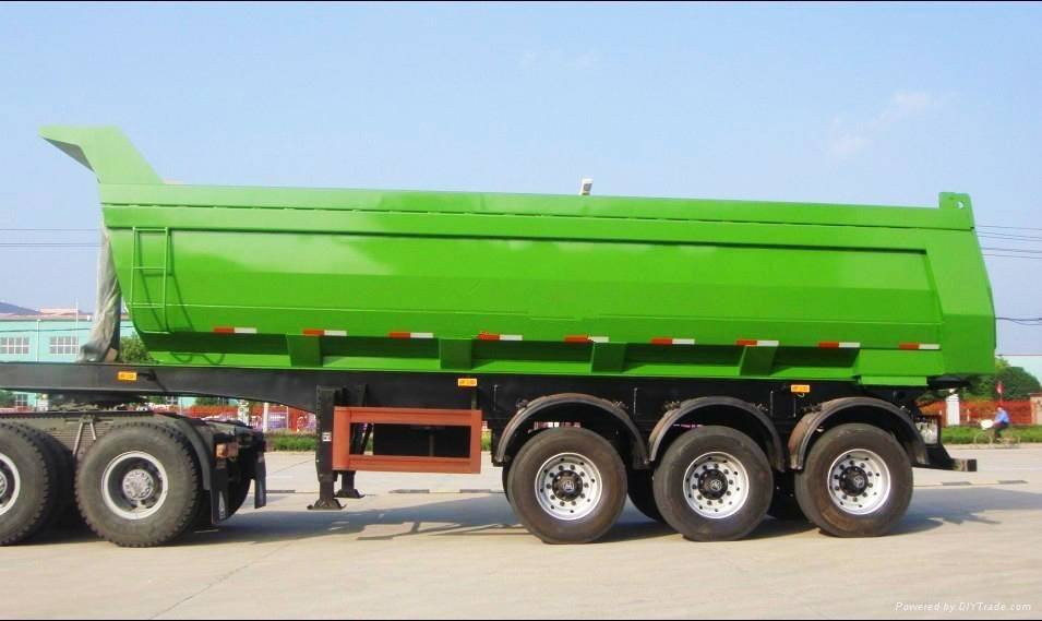 Fudeng 3 Axles Fudeng 3 Axles U Shape 60 Tons Tipper Truck Trailer Dump Trailers 60 Tons Tipper Truc
