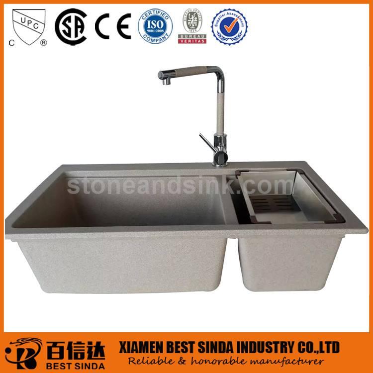 High standard rectangular composite granite sink