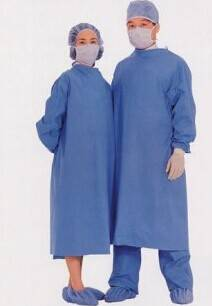 Disposable PP/SMS OE Steriled Operating Gown