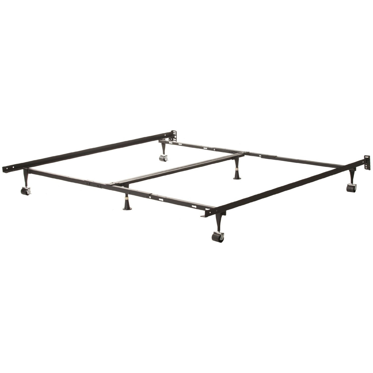 queen size metal bed frames with 6 legs