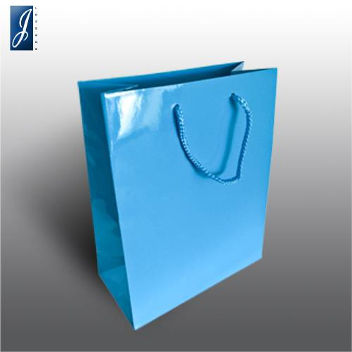 Currency small blue promotional bag