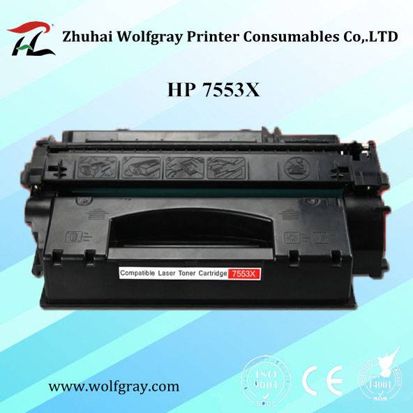 High quality compatible toner cartridge HP 7553X for HP P2015/2014/2727/Canon LBP3318