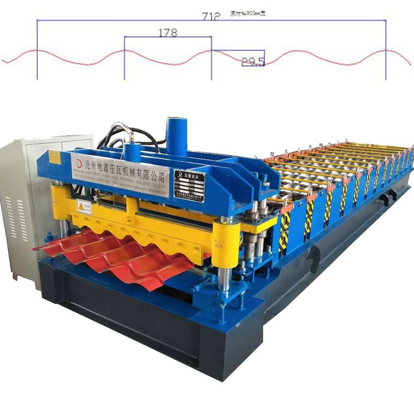 Roof Sheet Glazed Tiles Roll Forming machine/glazed profile forming machinery