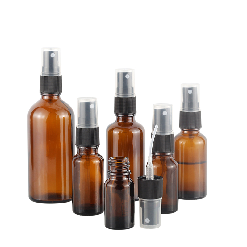 Newest Amber Essential Oil Glass Bottle with Sprayer