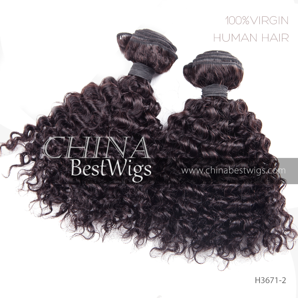 black curly hair weft
