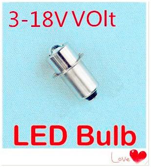 LED P13.5S 1W recessed screw LED light 3V-18V p13.5s screw base led flashlight bulb 18V