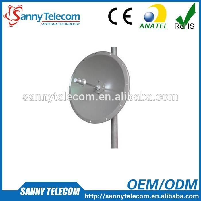 WiFi 5.8GHz 24dBi High Performance Single Polarized Solid Parabolic Dish Antennas