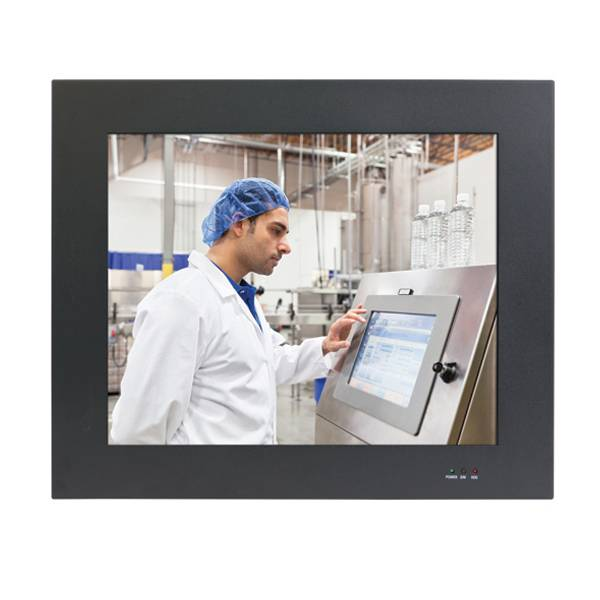 19inch Panel PC monitor /Resistive, PCAP Resistive Touch/ CRT, DVI, Ethernet, USB, Serial, Audio