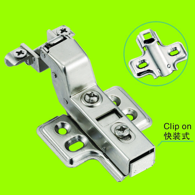 furniture parts Aluminum frame hinge self closing