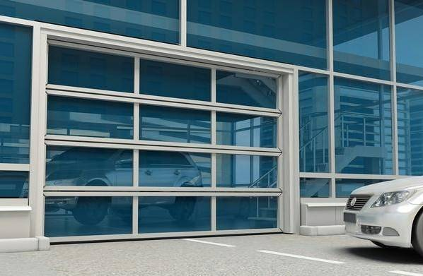 Transparent automatic sliding door