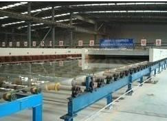 horizontal drawing glass production line