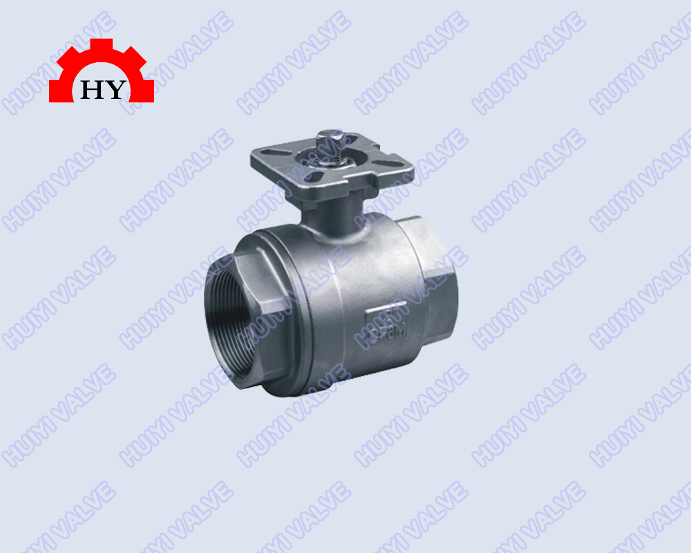 2-pc ball valve with high platform