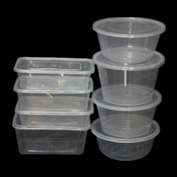 Different Size of Plastic Food Container