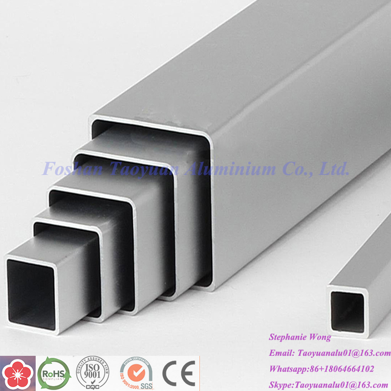 thin wall rectangular aluminum tube 6mm aluminum square oval pontoon tube