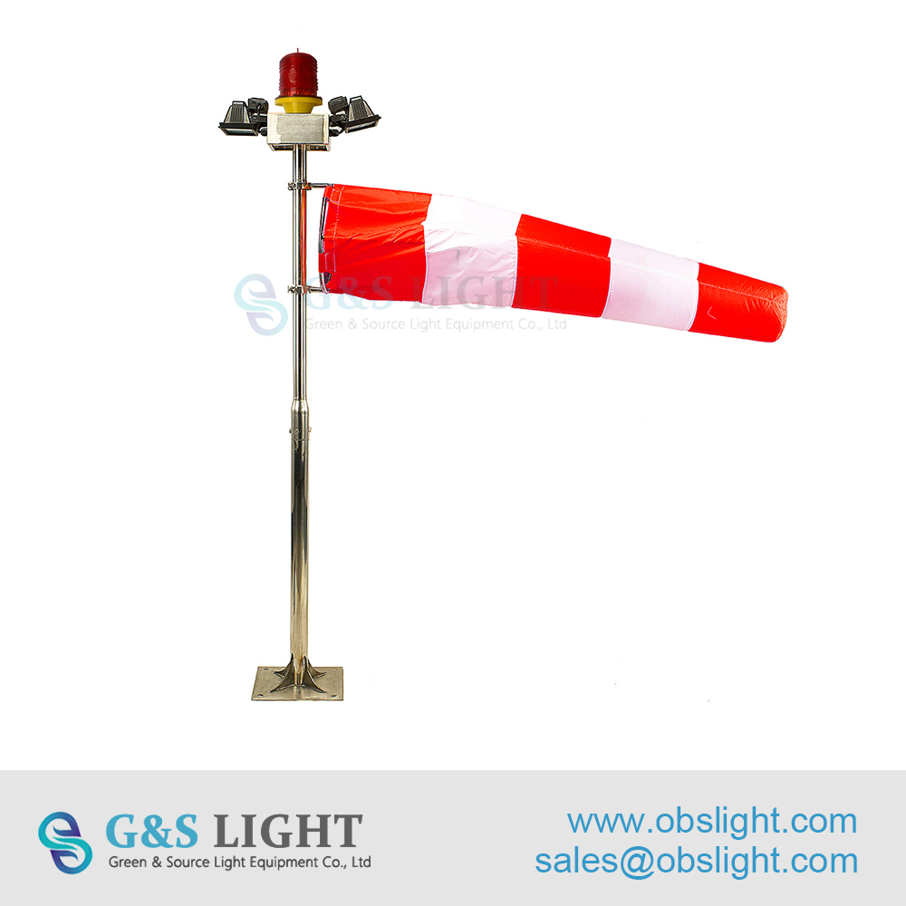 stainless steel material FAA standard Windsock for helipad / helipad windsock