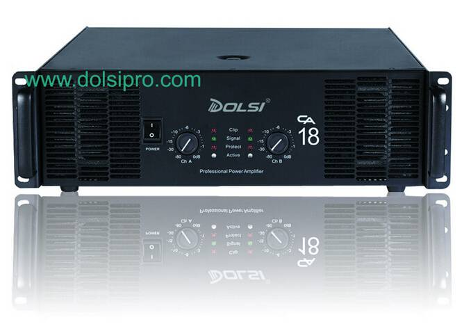 High Power Double Channel 3U 1000W to 1400W at 8 ohms Power Amplifier CA Series